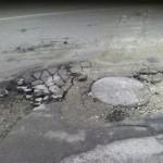 asfalto distrutto ...